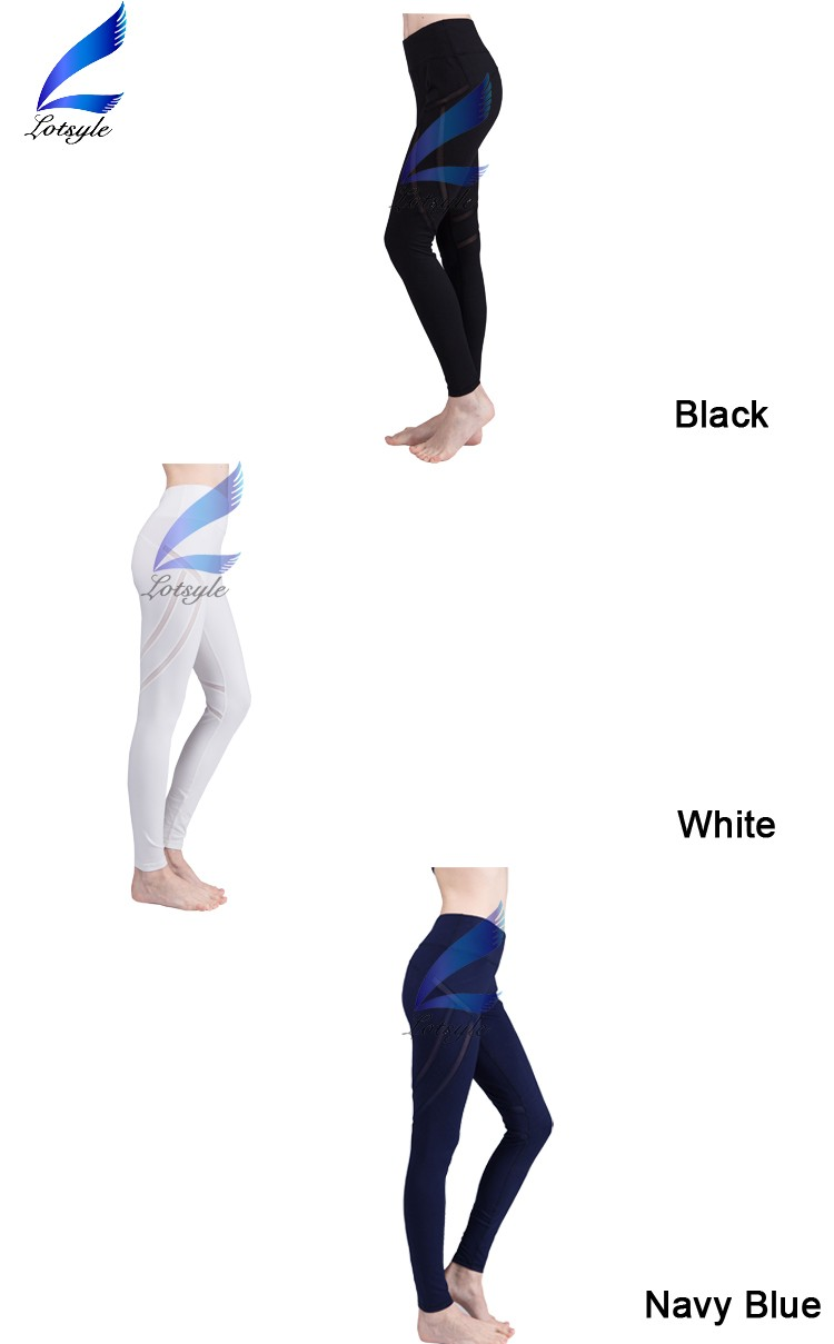 Lotsyle Wholesale Yoga Pants Dry Fit Sports Wear Black Women Running Tights