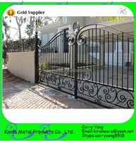 High Grde Cottage Decorative Wrought Iron Modern Main Gate Designs