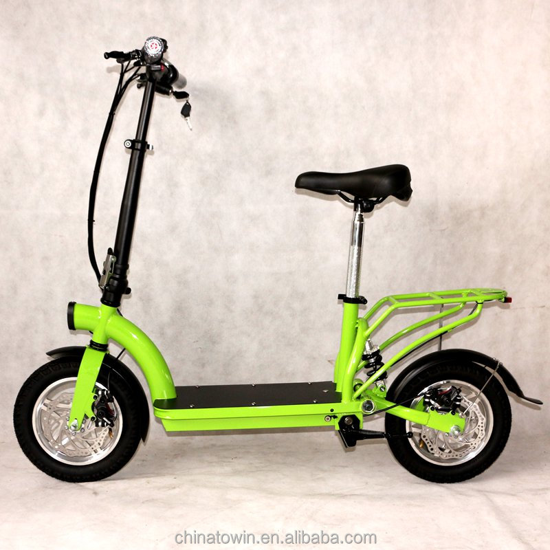 36V lithium mini electric bike 12inch tires 300W-500W folding electric scooter with rear Carrier