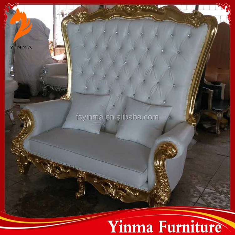 2016 cheap price elegant hand carve wedding sofa for living room