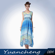 Hot sale products high fashion womens clothing wholesale on line shopping new design korean chiffon dress beach dress