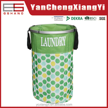 Self-standing eco-friendly 600D oxford polyester fexiable laundry barrel