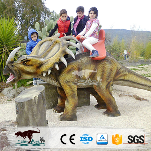 OA1216 Theme Park Lifelike Animated Dinosaur Battery Operated Rides