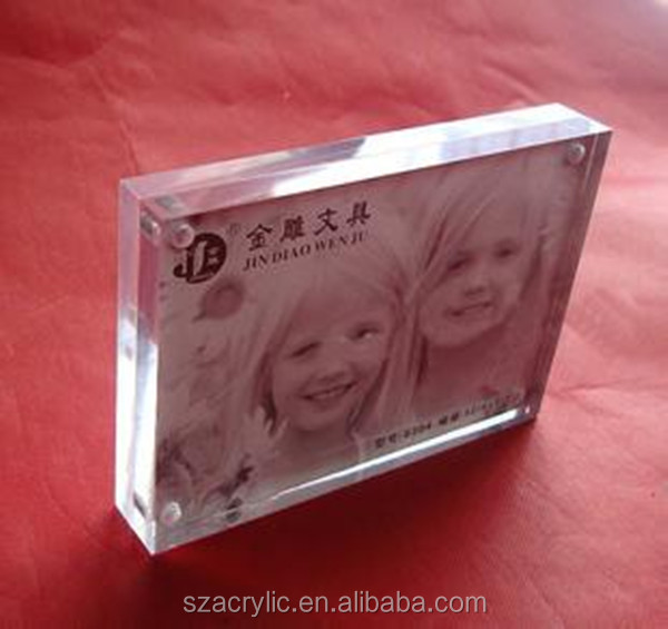 Hot Sale 5x7 Clear Transparent Acrylic Block Photo Frame