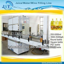 PET bottle automatic sunflower oil bottling line / machine
