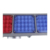 Double side solar traffic light solar powered portable traffic light