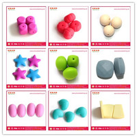 Chinese Manufacturer wholesale seller 100% BPA Free Food Grade Chunky Silicone Hexagon Teething Necklace Beads