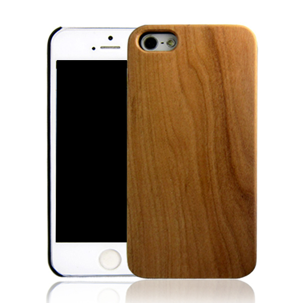 Cherry mobile phone cover for iPhone 5 PC bottom wooden case back hard cell phone shell