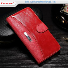 High class genuine leather wallet case for Samsung galaxy s7 crazy horse pattern flip phone cover case for galaxy s7 edge