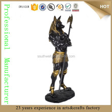 antique Dark Lord Anubis Statue God of the Dead Mummification Deity large egyptian statue sculpture for sale
