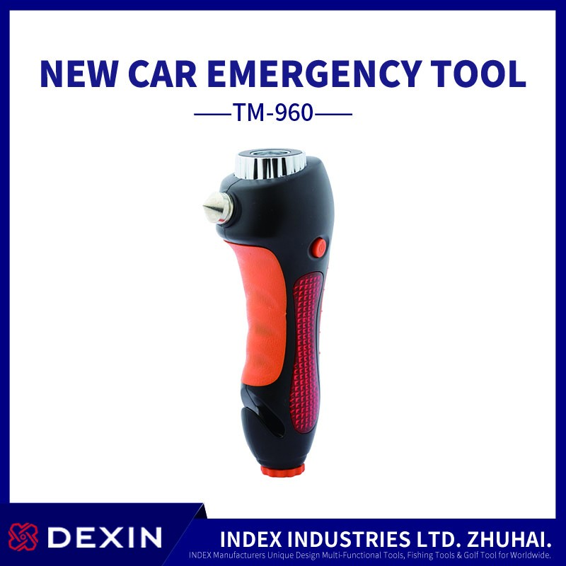 multi car safety hammer emergency tool hammer with LED light