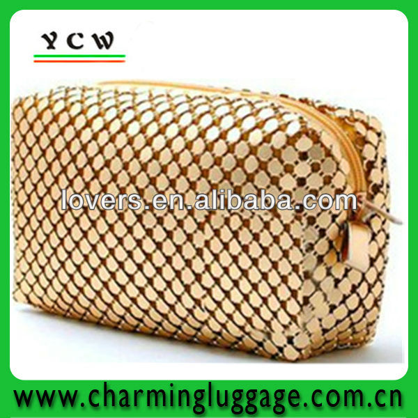 China manufacturer gold mesh purse/wallet made