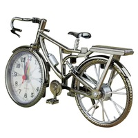 Vintage Bike Shape Alarm Clock Fun Bicycle Clock Ornaments for Home Decor