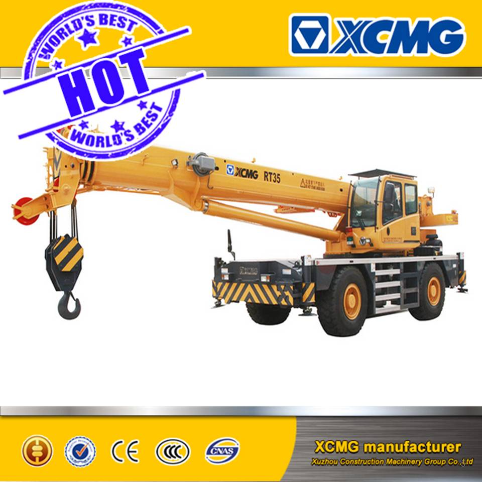 35 Ton XCMG Rough terrain crane, used truck crane mobile crane RT35