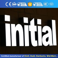 3D Stainless Steel Word Sign Acrylic Led Fashionable Advertising Frontlit Epoxy Resin Channel Letter Soign