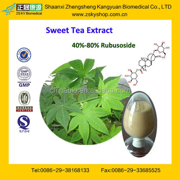 GMP Certified Factory Supply High Quality Sweet Tea Leaves Extract
