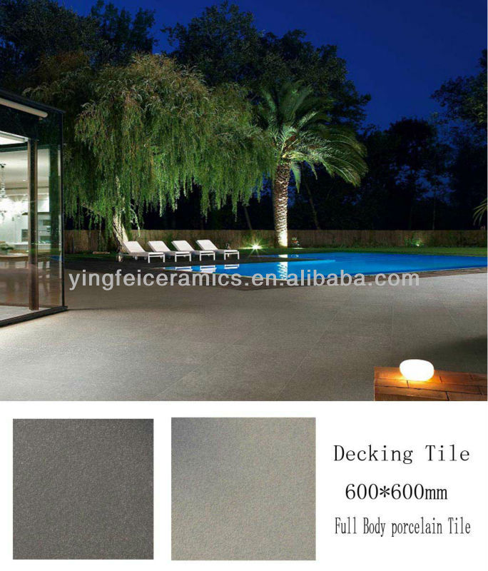 "600*600mm(24""x24"") factory supply outdoor tile pool area anti slip swimming pool tile"