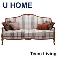 2014 U HOME french style fabric leather sofa (H323) hand carved china furniture manufacturer