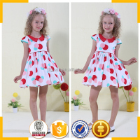 kids girl first communion dress sexy school strawberry girl dress dot print dress