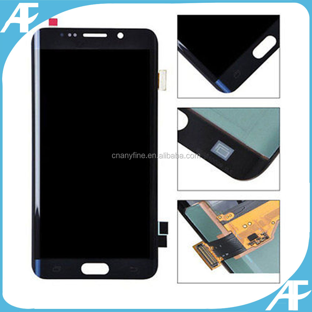 Original mobile phone LCD touch screen and front glass complete for Samsung Galaxy S6 edge