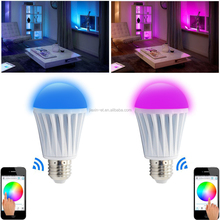 2015 Popular Wifi Led Bulb new product Smartphone Controller E27 Wifi LED Bulb with Remote
