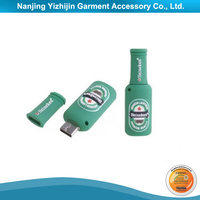 Soft PVC Material USB Flash Drive Bottle Shaped
