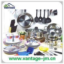 76 pieces kitchen starter set with cookware dinner set