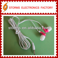 High quality stereo apple earphone for ipod and ipad or opp as promotion