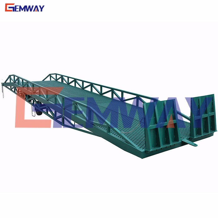 Good quality mobile container loading yard ramp for sale