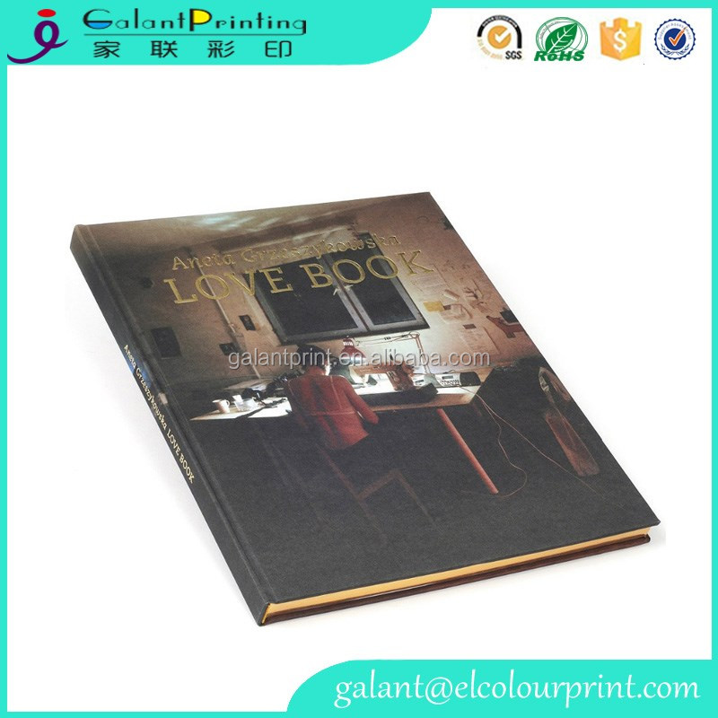OEM hardcover paper book printing film lamination cover books perfect binding books