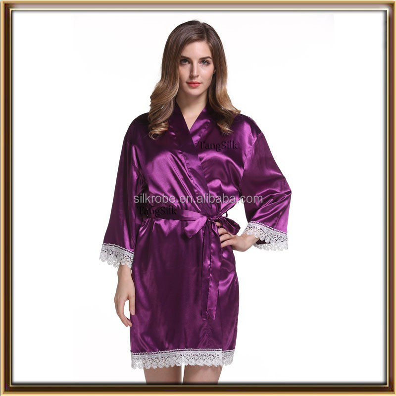 wholesale satin robe XXL wedding gowns for fat bride