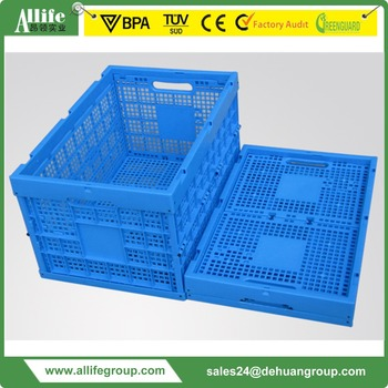 Allife Supermarket Foldable Vented Type Distribute Fruit Crate