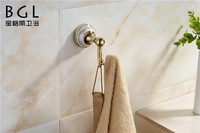 bathrooms accessories exquisite rose gold finishing zine alloy bath towel hook