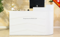 Customized Wooden Design Corner Checkout Counter for Retail Clothes Shop