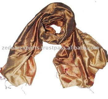 Natural raw silk dupion scarves