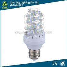 LED low price rohs light bulbs led half spiral energy saving lamp