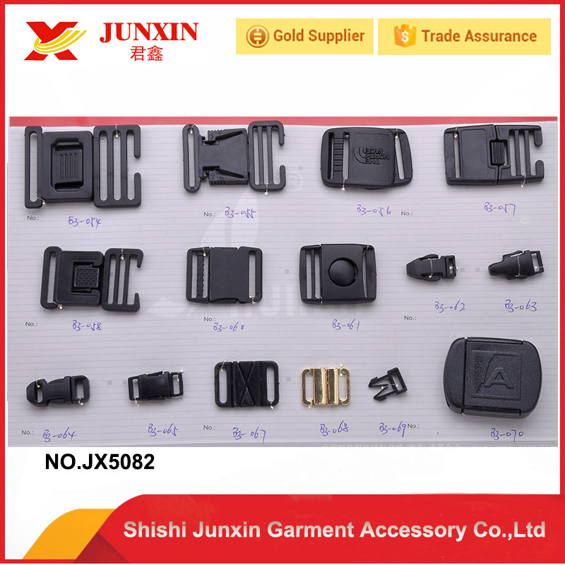 China custom cheap plastic curved buckle plastic insert strap buckle