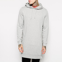 Manufacture Of China 100%Cotton Grey Men Longline Blank Men Hoodie Sweaters