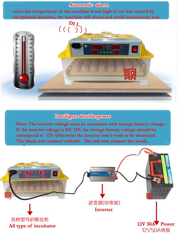 mini intelligent egg incubator instructions
