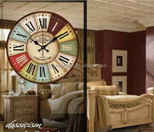 Europe type style digital antique wall clock home decorating retro wall clock