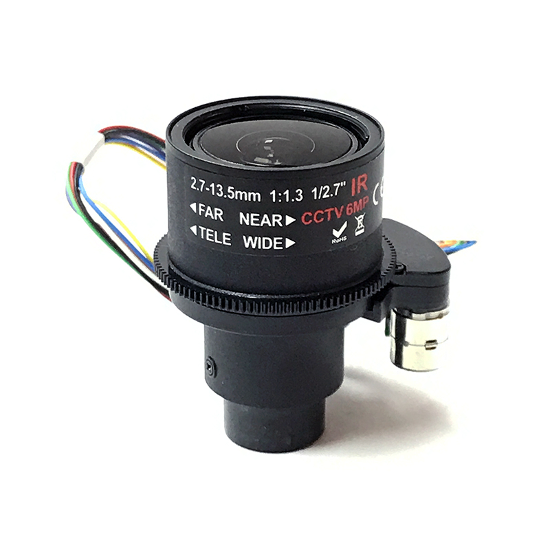 "1/2.7"" HD 6MP Megapixels 2.7-13.5mm Motorized Zoom Auto Focus M14 Mount CCTV Lens For IP Security Camera (SL-27135MFZ 6MP)"