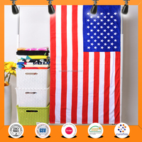 China supplier 30x60 Cotton printed National USA American flag beach towels
