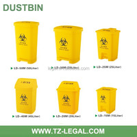 Plastic Medical Wheelie Bin With Wheels