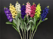 Wedding stage flower artificial hyacinth violet flower decoration