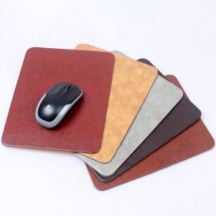 Wholesale Computer Mouse Pad Thicken Genuine Leather Mousepad