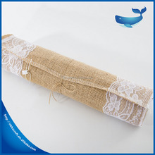 hemp table cloth The hotel's bed towel cloth Home Furnishing decorative gift wedding decoration with lace
