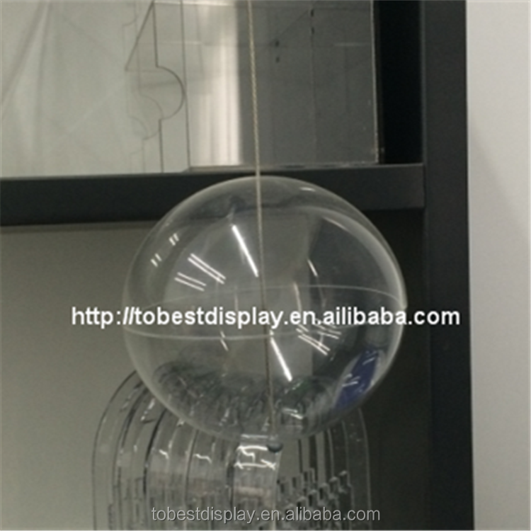 Decorative hanging clear plastic glass balls, indoor christmas glass hanging ball
