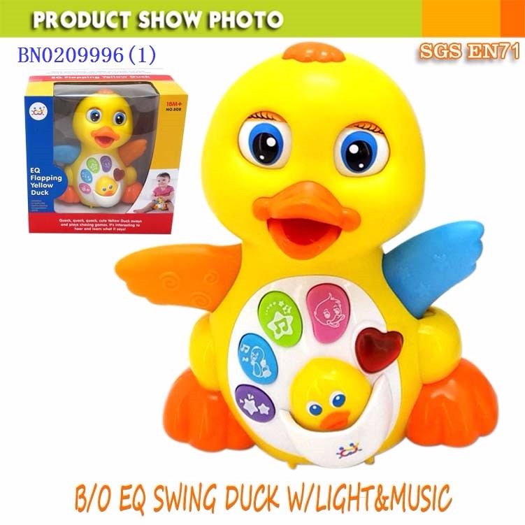 Intelligent baby toy electrical EQ swing duck