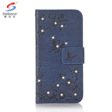 High quality wallet sticker pu leather phone case card slots for iphone 7, flip cover leather phone case for iphone 7