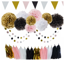 Wholesale Birthday Party Flower Pom Pom Wall Paper Home Decorations Set
